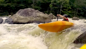 dominic morell boofing on the river in his 2020 highlight reel
