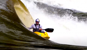 dane jackson on number 11 curler wave on the zambezi river