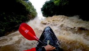 flooded slide 9 mile creek in new zealand