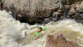 Watch US paddler Connor Gagliano make an almost clean line on the White Line rapid of the Cache la Poudre river. Location: USA Kayaker: Connor Gagliano Filmed by: Dave Frank