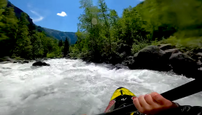 Follow Nouria Newman on a sweet first descent section in the french alps. Nouria is currently exploring every small creek and gnarly rapids in her local area finding some nice new runs!