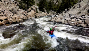 """Follow Doug Wright and the Summit county local paddlers down the stunning Pine Creek run of the Arkansas River in Colorado! """"A multi-platform shot short film of the Pine Creek run on the Arkansas River @ 547 CFS that features a unique perspective of the landscape, river scout & run itself. My goal was to elevate the viewers experience by accurately depicting the river and all its features to help aspiring boaters progress in their love of white water kayaking."""" Paddlers: Doug Wright & Summit county local paddlers Jonathan Guest, Cas Taylor & Tom Aex Behind the GoPro: Doug Wright Behind the Drone Shots: Doug Wright Edit and Production: Doug Wright Location: Colorado, Arkansas River"""