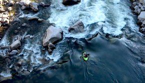 """""""Kayaking on the South Fork Payette, I'm just a dad watching his son play on the Class IV rapids Staircase and Slalom"""" By: Cody Redmond"""