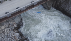 Watch paddler Archer McLeay disappear beneath a rock on the Ryan river in BC. His friend Dan filming was unable to help, but captured the scary moment. Luckily all ended with smiles. Stay safe on the river!