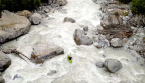 The Russian team wwschool/whitewater.guide headed down to explore their home country after a decade paddling around the world. They did 2 first descents of the crux parts of some of the biggest rivers coming down from the Elbrus mountains and the main Caucasus crest. After this trip the steep and big Balkarskiy Cherek has become the new class V classic and the Malka river is still a project to be attempted with high flow. By Mike Krutyansky