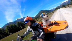 Follow Guillermo Walsen kayaking through Chile in 2018 with his motorcycle and dog!