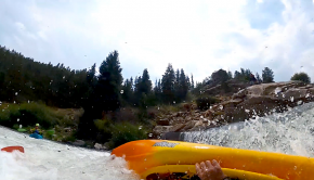 """""""Trying to grab an eddy river right while taking a hard line down this rapid, hit a lateral wave that flipped me. I rolled up into a pour over / hole and is considered one of the top 5 stickiest holes in Colorado. After wet exiting, I got recirculated back into the hole, had to ball up, then dive down a little to swim out. I was the first of two swimmers of our crew of 7, whom are all class IV/V boaters. Almost claimed a third boater."""" By: Dejan Smaic"""